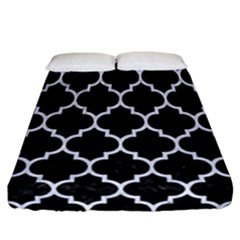 Tile1 Black Marble & White Marble Fitted Sheet (california King Size)