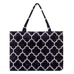 TIL1 BK-WH MARBLE Medium Tote Bag