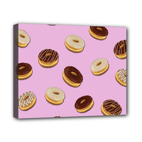 Donuts pattern - pink Canvas 10  x 8