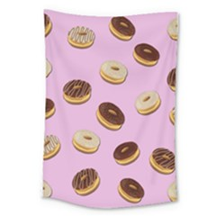 Donuts Pattern   Pink Large Tapestry