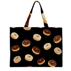 Donuts Zipper Large Tote Bag