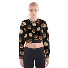 Donuts Women s Cropped Sweatshirt