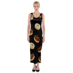 Donuts Fitted Maxi Dress