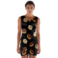 Donuts Wrap Front Bodycon Dress