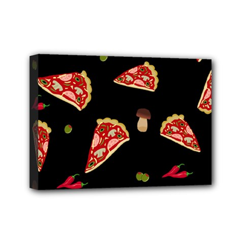 Pizza slice patter Mini Canvas 7  x 5