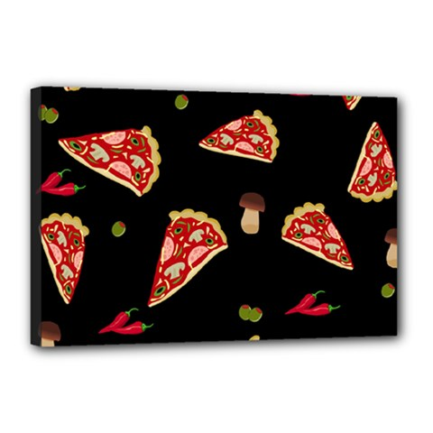 Pizza slice patter Canvas 18  x 12