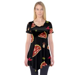 Pizza slice patter Short Sleeve Tunic