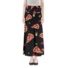Pizza slice patter Maxi Skirts