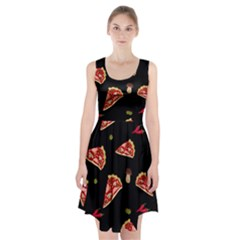 Pizza slice patter Racerback Midi Dress