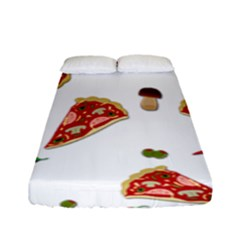 Pizza Pattern Fitted Sheet (full/ Double Size)