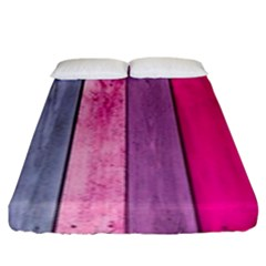 Pink Wood Fitted Sheet (king Size)