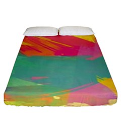Paint Brush Fitted Sheet (king Size)