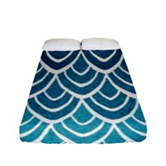 Blue Fish Scale Fitted Sheet (full/ Double Size)