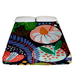 Japanese Inspired Fitted Sheet (queen Size)