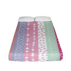 Pink Wood Fitted Sheet (full/ Double Size)