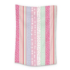 Pink Wood Small Tapestry