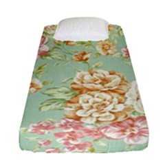 Vintage Pastel Flower Fitted Sheet (single Size)