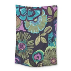 Dark Lila Flower Small Tapestry