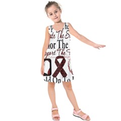Sickle Cell Is Me Kids  Sleeveless Dress