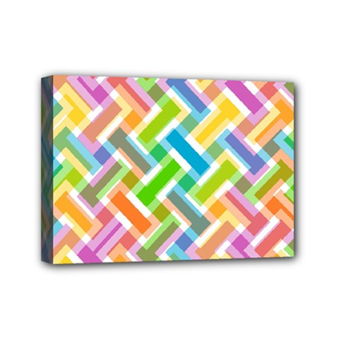 Abstract Pattern Colorful Wallpaper Mini Canvas 7  X 5