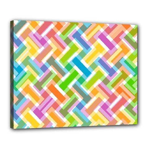 Abstract Pattern Colorful Wallpaper Canvas 20  X 16