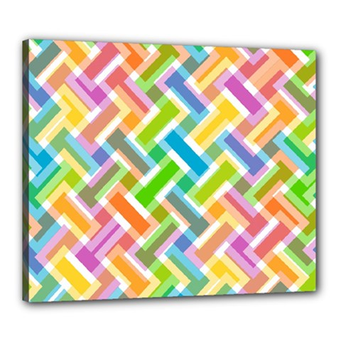 Abstract Pattern Colorful Wallpaper Canvas 24  X 20