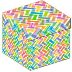 Abstract Pattern Colorful Wallpaper Storage Stool 12