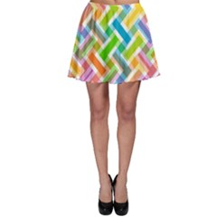 Abstract Pattern Colorful Wallpaper Skater Skirt
