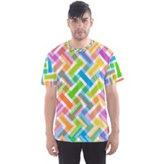 Abstract Pattern Colorful Wallpaper Men s Sport Mesh Tee