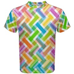 Abstract Pattern Colorful Wallpaper Men s Cotton Tee