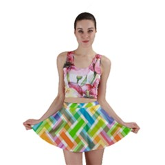 Abstract Pattern Colorful Wallpaper Mini Skirt