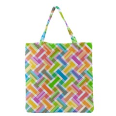 Abstract Pattern Colorful Wallpaper Grocery Tote Bag