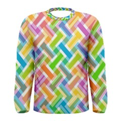 Abstract Pattern Colorful Wallpaper Men s Long Sleeve Tee