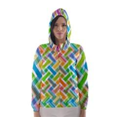 Abstract Pattern Colorful Wallpaper Hooded Wind Breaker (women)