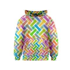 Abstract Pattern Colorful Wallpaper Kids  Pullover Hoodie
