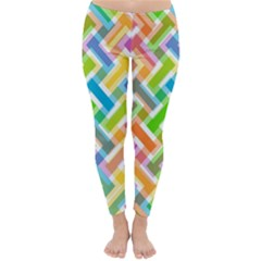 Abstract Pattern Colorful Wallpaper Classic Winter Leggings