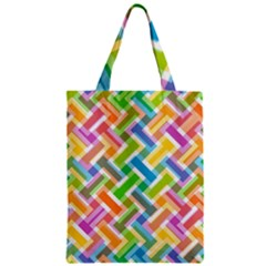Abstract Pattern Colorful Wallpaper Zipper Classic Tote Bag