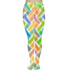 Abstract Pattern Colorful Wallpaper Women s Tights