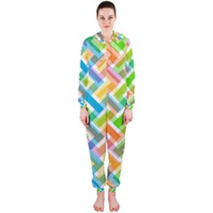 Abstract Pattern Colorful Wallpaper Hooded Jumpsuit (ladies)