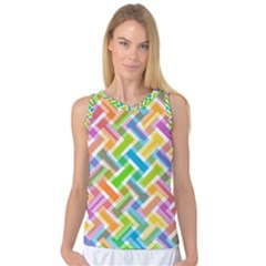 Abstract Pattern Colorful Wallpaper Women s Basketball Tank Top