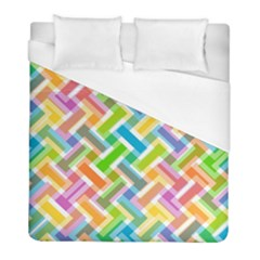 Abstract Pattern Colorful Wallpaper Duvet Cover (full/ Double Size)