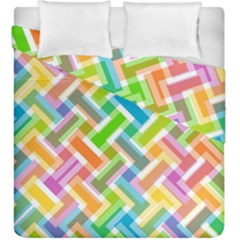 Abstract Pattern Colorful Wallpaper Duvet Cover Double Side (king Size)