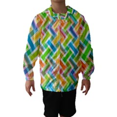 Abstract Pattern Colorful Wallpaper Hooded Wind Breaker (kids)