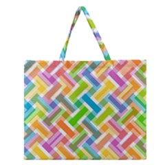 Abstract Pattern Colorful Wallpaper Zipper Large Tote Bag
