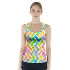 Abstract Pattern Colorful Wallpaper Racer Back Sports Top
