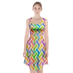 Abstract Pattern Colorful Wallpaper Racerback Midi Dress