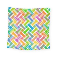 Abstract Pattern Colorful Wallpaper Square Tapestry (small)