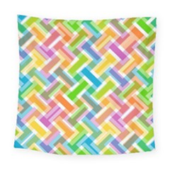 Abstract Pattern Colorful Wallpaper Square Tapestry (large)