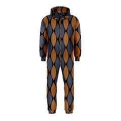 Abstract Seamless Pattern Hooded Jumpsuit (kids)