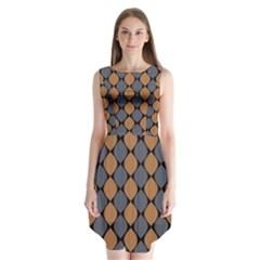 Abstract Seamless Pattern Sleeveless Chiffon Dress